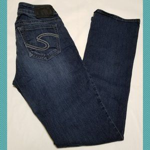 Silver Suki Dark Wash High Slim Bootcut Jeans